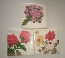 More details for vintage paper napkin serviettes wida, swiss made bern 3 x 25 packs decoupage