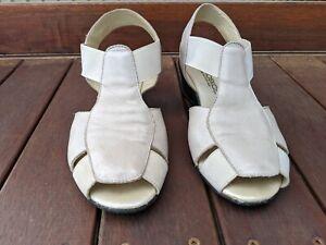 Aerobics Portugal Women's Leather Slingback Shoe Comfort - Cream / 39