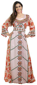 Digital Printed Dress Haute coutre Jellabiya Gown For Henna Party Wear 8470