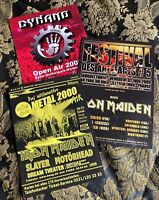 IRON MAIDEN set of 3 promo festival flyer original 20 x 15 KORN SLAYER MOTORHEAD