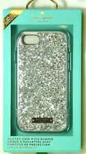 kate spade new york Glitter Case for iPhone 7/iPhone 8, Exposed glitter, Silver