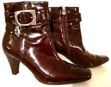 ETIENNE AIGNER 70073-1 Vincent - Chocolate Brown Ankle Boots Women's Size: 9.5 M