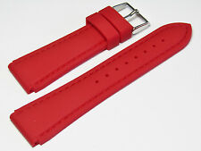 24mm Hadley-Roma MS3346 Red Silicone Rubber Waterproof Dive Watch Band Strap