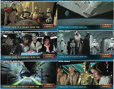 Star Wars ANH Widevision 6 Rare Promo Card Set SW1 - SW6 - TOPPS 1995