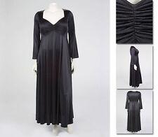 NEW Zaftique CINCHED BLACK GOWN Satin Dress 0Z 1Z 4Z / 14 16 28 / L XL 1X 4X