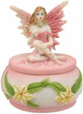 Ebros Gift Colorful Pastel Pink Flower Fairy Daisy Small Round Trinket Box