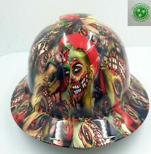 FULL BRIM Hard Hat custom hydro dipped , NEW COLOR  ZOMBIE GIRLS SUPER HOT NEW