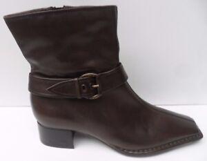 Womens Lavorazione Artigiana Brown Leather Ankle Boots - Size UK 5 EEE EUR 38
