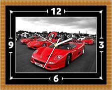 Ferrari F50 Wall Clock Gift Present Christmas Birthday (Can Be Personalised)