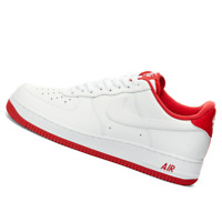 NIKE MENS Shoes Air Force 1 '07 Varsity - White & Red - CD0884-101