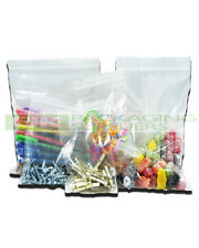 "100 Large A4 9 X 12.75"" Clear Grip Seal GRIPSEAL Plastic Resealable Bags -"
