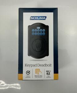 Schlage, Keypad Deadbolt (BE365), Camelot Style, Aged Bronze Finish, (Read)