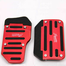 2x Red & Black Non-Slip Car Pedal Universal Automatic Foot Treadle Pad Cover kit
