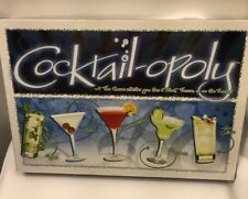 Cocktail-opoly Board Game Drinking Bar Mixology Cocktails Adult New Sealed USA