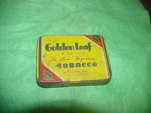 Golden leaf,recycled tobacco tin.Western Australian.