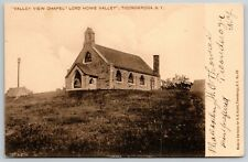 Ticonderoga New York~Hilltop Lord Howe Valley View Chapel~1907 UDB Sepia PC