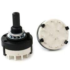 RS26 Moda Negro Soporte De PCB Panel Wirie 3 Pole 4 Way Interruptor Giratorio