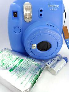 Fujifilm Instax MINI 9 Film Instant Camera Cobalt Blue - with 10 shots Film Pack