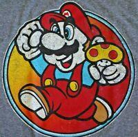 Nintendo Super Mario Bros Video Game Mens Graphic T Tee Shirt Size M EUC