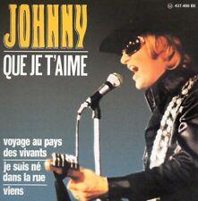 ★ CD SINGLE Johnny HALLYDAY Que je t'aime 4-track CARD SLEEVE 532 306 0 pochette