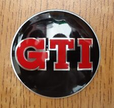 RED BLACK GTI STEERING WHEEL BADGE FOR VW GOLF POLO PASSAT  JETTA CADDY 44MM