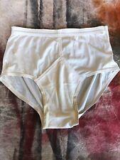 Vintage 70's Jockey Men's 100% Nylon Tricot White Briefs 1971 Underwear Size 36