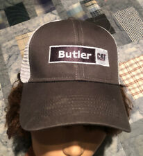 Vintage CAT Caterpillar Butler   Grey Mesh Trucker Hat Snapback Cap