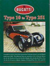 Bugatti Type 10 13 22 23 30 35 37 38-41 43 44 46 49-51 53-55 57 59 roadtest Livre