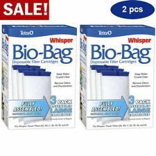 2Pac Tetra Whisper Bio Bag Disposable Filter Cartridges Assembled Aquarium Large
