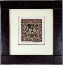 Rare Original Miniature Quilt Kate Adams Broken Dishes Baby Framed Coa 1993 Art