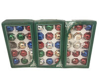 "Vtg Christmas Ornaments 2"" Multi Color Glass Ornaments Rauch Set of 43 in Boxes"