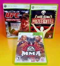 Don King Presents: Prizefighter, UFC, MMA  - XBOX 360 - 3 Games Rare Complete