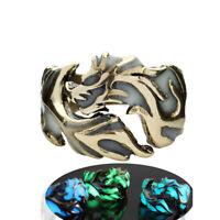 20Pcs naturaleza Abalone Shell Anillo Acero Inoxidable Anillos Oro Plata mezcla para hombres y mujeres