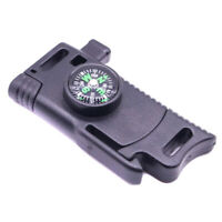 EDC Multifunction Outdoor Survival Tool Knife Flint Whistle Parachute Buckle