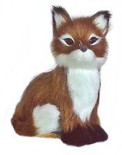 Decoración zorro de piel artificial animal en Miniatura Hecho a mano Felpa