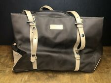 StorkSak Gigi Large Nylon Diaper Bag Tote Chocolate Brown Tan