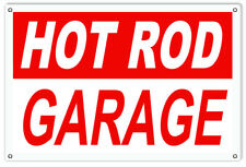 Hot Rod Automobile Reproduction Garage Shop Metal Sign - 18 in x 30 In RVG164