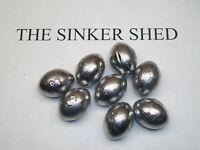 3 oz egg slip sinkers  - quantity of 5/12/25/50/100/200/320 - FREE SHIPPING