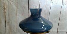 "STUDENT LAMP GLOBE MARINE BLUE OIL KEROSENE LAMP GLASS SHADE KERO 10"" RAYO"