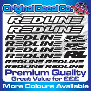 Premium Quality Redline BMX Bike Decals Stickers mountain bike frame mtb set old