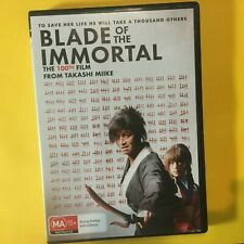 BLADE OF THE IMMORTAL - DVD - JAPANESE WITH ENG SUBS - R4 - VGC - FREE POST
