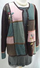 Koret Sweatercoat 100% boiled wool Jacket Coat Button up Size 1X color block VTG