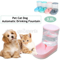 Automatic Water/Food Pet Dog Cat Puppy Dispenser Feeder Bowl Bottle 3.8L Refill