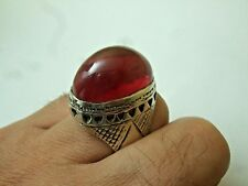 Vintage Ruby looks king silver Ring 18.70-gm sizes us: 10.5