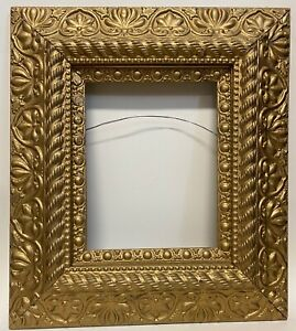"""Antique Victorian Gesso Picture Frame 16""""W X 18.25""""H FITS 8 X 10 No Glass"""