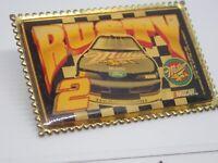 Rusty Wallace 2 Miller Racing Ford Thunderbird NASCAR Vintage Enamel Lapel Pin