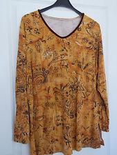 A Damen  Shirt Gr. XL 46 /44 langarm Farbe: senf