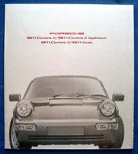 Prospekt brochure 1991 Porsche 911 carrera 2 * 911 Turbo (Estados Unidos)