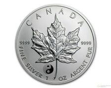 Canada 2016 Canadian Maple Leaf Yin Yang Privy Reverse Proof 1 oz Silver Coin
