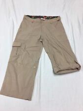 Magellan Sportswear Tan Khaki Adjustable Roll Up Capri Crop Pants Women's 4